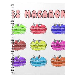 Les Macarons Cute Cartoon Notebook