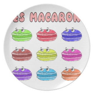 Les Macarons Cute Cartoon Plate