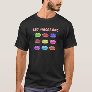 Les Macarons Cute Cartoon T-Shirt