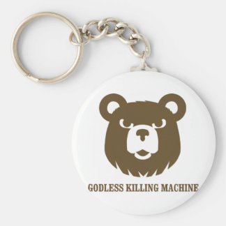 les machines athée de massacre d'ours câlinent le  porte-clé rond