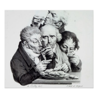 Les Mangeurs d'Huitres, 1825 Poster