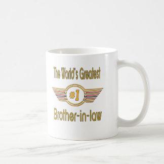 Les meilleurs cadeaux de beau-frère mug blanc