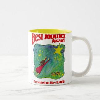 Les meilleurs cadeaux de récompense de mère mug bicolore