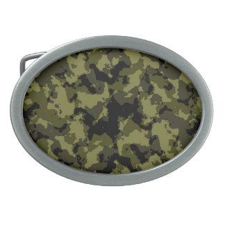 Les militaires de camouflage dénomment boucles de ceinture ovales