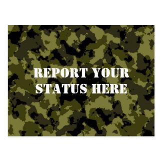 Les militaires de camouflage dénomment carte postale