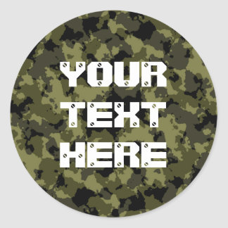 Les militaires de camouflage dénomment sticker rond