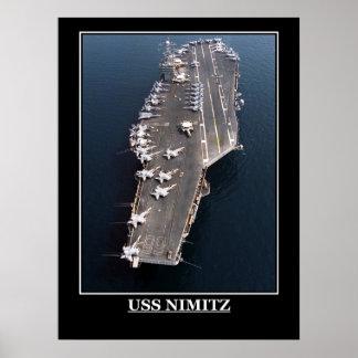 Les militaires d'USS Nimitz embarquent des emblème Affiche