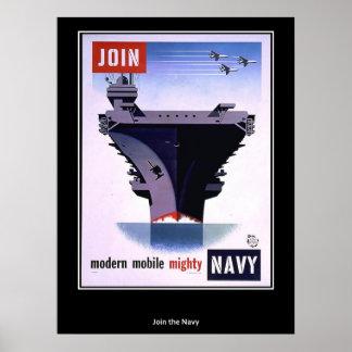 Les militaires embarquent des emblèmes d'avions poster