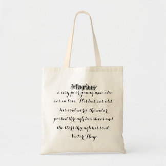 Les Miserables Bag: Marius Fancy Script Tote Bag