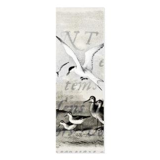 Les mouettes vintages ont customisé le rétro modèle de carte de visite