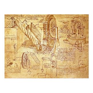 Les notes de da Vinci Carte Postale