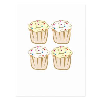 Les petits gâteaux avec arrose carte postale