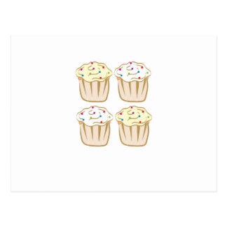 Les petits gâteaux avec arrose cartes postales
