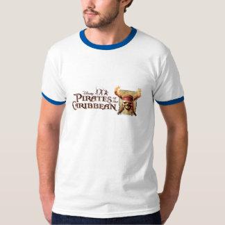 Les pirates du crâne des Caraïbes incendie le logo Tee-shirt