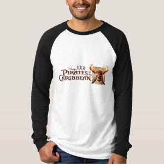 Les pirates du crâne des Caraïbes incendie le logo Tee Shirts