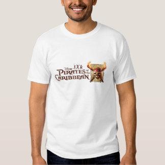 Les pirates du crâne des Caraïbes incendie le logo Tshirt