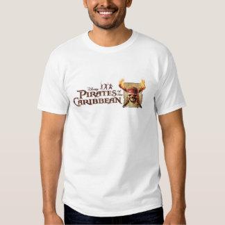 Les pirates du crâne des Caraïbes incendie le logo Tshirts