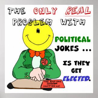 Les plaisanteries politiques obtiennent élues posters