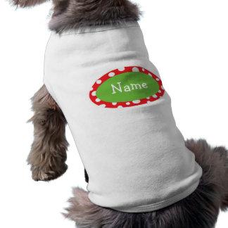 Les points impertinents ont personnalisé Noël Manteau Pour Animal Domestique