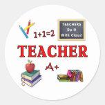 Les professeurs le font avec la classe autocollant rond