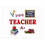 Les professeurs le font avec la classe carte postale