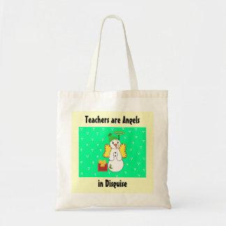 Les professeurs sont des anges dans le déguisement sacs en toile