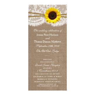 Les programmes rustiques de collection de mariage double cartes customisées