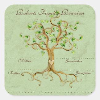 Les racines d arbre de remous Antiqued des étiquet Autocollants