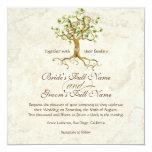 Les racines d'arbre de remous Antiqued le mariage Invitations
