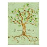 Les racines d'arbre de remous Antiqued le mariage  Cartons D'invitation