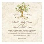 Les racines d'arbre de remous Antiqued le mariage  Faire-part