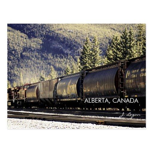 Les Rocheuses et trains, Alberta Canada (photo de