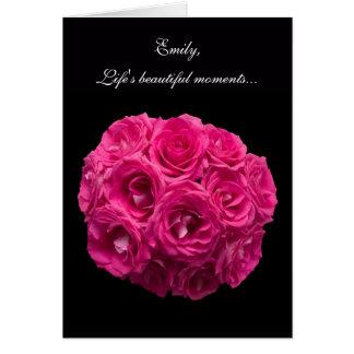 Les roses roses faits sur commande soient ma carte