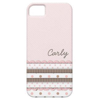 Les rubans Girly de Polkadot ont personnalisé le r Étuis iPhone 5