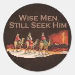 Les sages le cherchent toujours, Noël Autocollants Ronds
