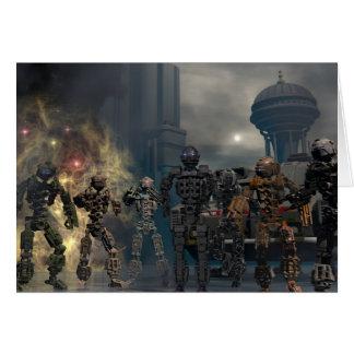 les sept robots glorieux b carte de vœux