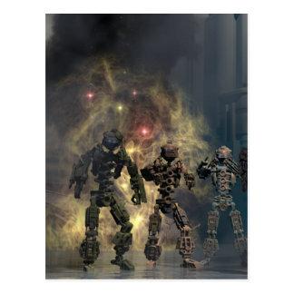les sept robots glorieux b carte postale