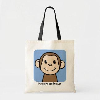 Les singes sont des amis sacs de toile
