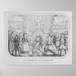Les Splendeurs de la Republique' , 1872 Print
