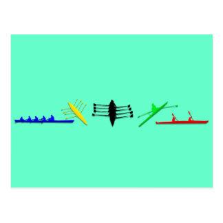 Les sports des femmes d'aviron de l'athlète des carte postale