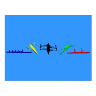 Les sports des femmes d'aviron de l'athlète des cartes postales