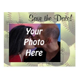 Les sports du base-ball épousant la photo de thème cartes postales