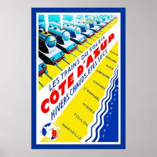 Les Trains du Soleil ~ Côte d'Azur Poster