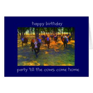 Les vaches viennent à la maison carte de correspondance