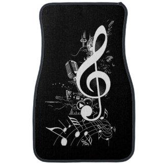 Les vies de musique dans le me_ tapis de voiture