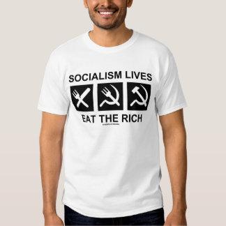 Les vies de socialisme mangent le riche (la tshirt