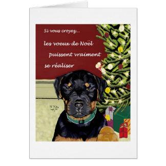Les Voeux de Noel carte Greeting Card