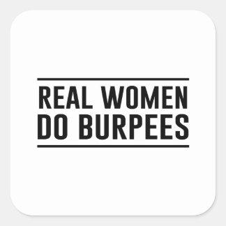Les vraies femmes font Burpees