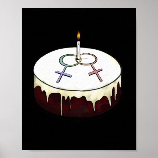 Lesbian Birthday Cake Print