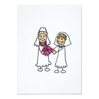 "Lesbian Brides In Love 5"" X 7"" Invitation Card"